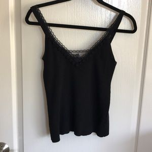 Lace Tank by Cynthia Steffe in Black